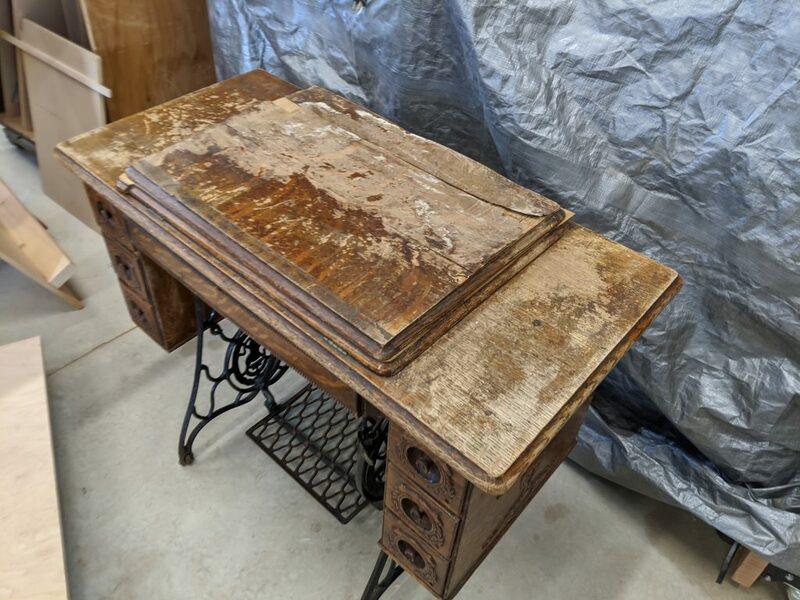 Antique Singer Sewing Machine Cabinet, Refinishing Antique Singer Sewing Machine Cabinet